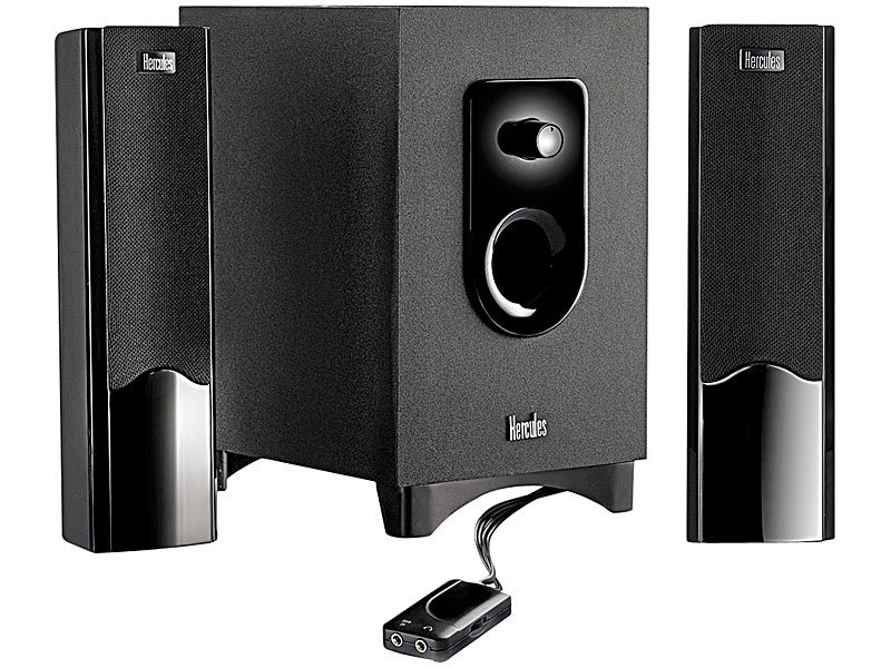 hercules xps 2 1 20 stereo lautsprecher set mit subwoofer. Black Bedroom Furniture Sets. Home Design Ideas