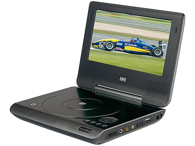 portabler 17 8 cm 7 dvd player dpp 905 mit usb player. Black Bedroom Furniture Sets. Home Design Ideas