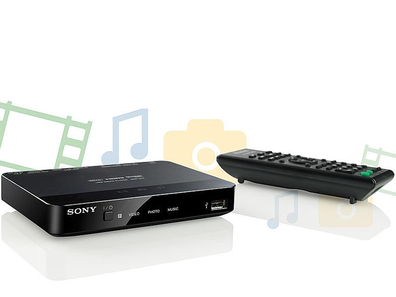 sony hdmi mediaplayer smp u10 f r usb stick usb festplatte. Black Bedroom Furniture Sets. Home Design Ideas