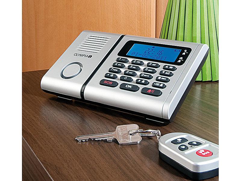 alarmanlage notrufsystem mit telefonw hleinheit rauchmelder. Black Bedroom Furniture Sets. Home Design Ideas