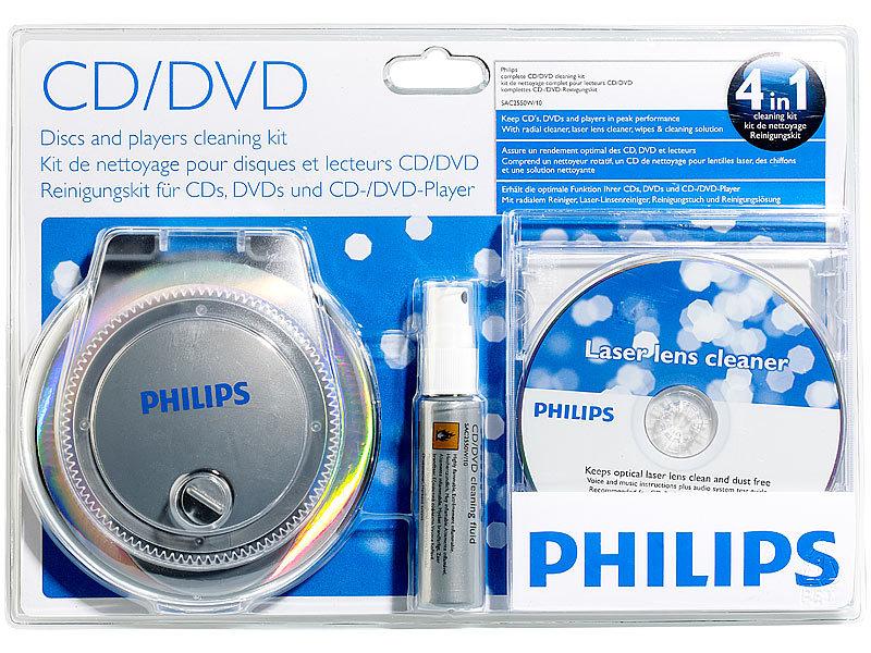 philips reinigungssystem f r cd dvd alle player inkl. Black Bedroom Furniture Sets. Home Design Ideas