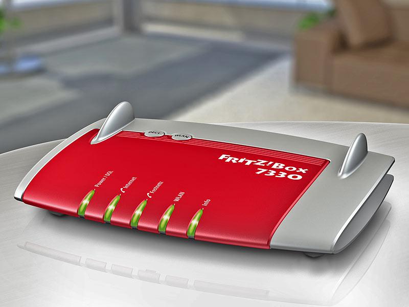 fritz box 7330 dsl wlan n router dect telefonanlage. Black Bedroom Furniture Sets. Home Design Ideas