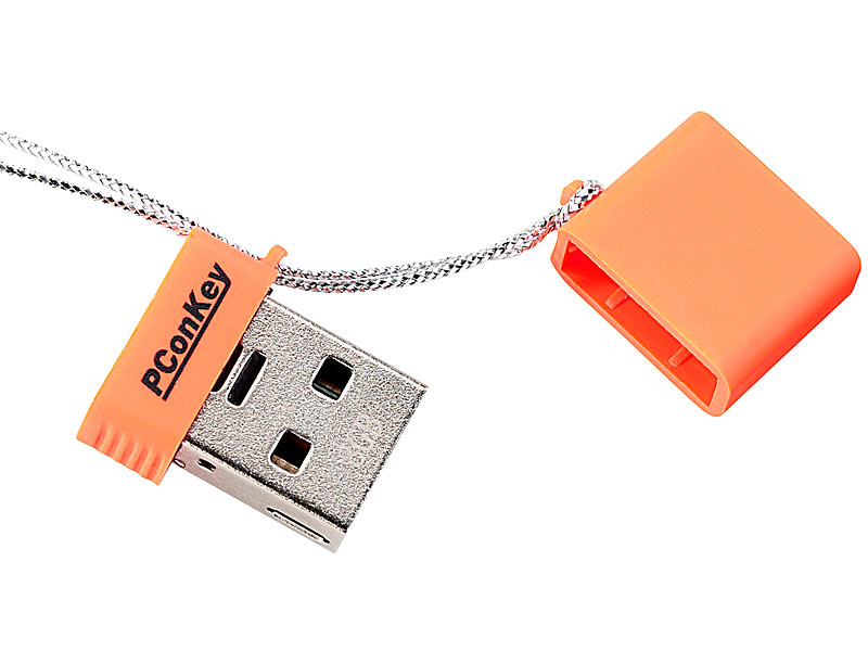 "USB-2.0-Mini-Speicherstick ""Square II CL"", 8 GB, neonorange"