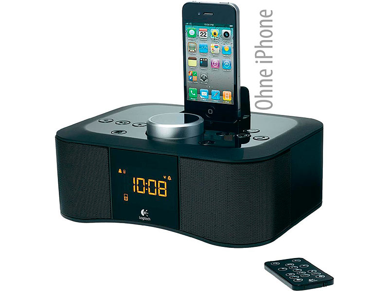 logitech s400i radiowecker dockingstation f r iphone. Black Bedroom Furniture Sets. Home Design Ideas