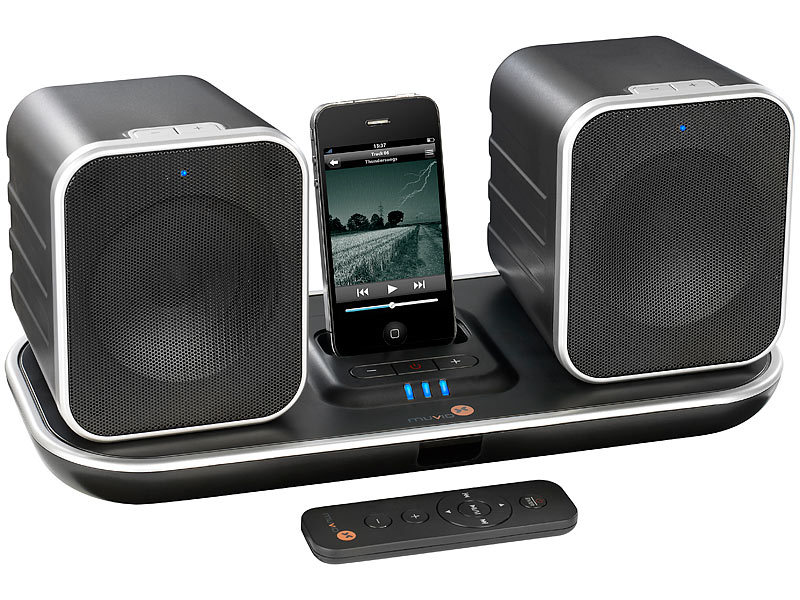 muvid i fi 90 funk lautsprecher mit ipod iphone dock usb. Black Bedroom Furniture Sets. Home Design Ideas