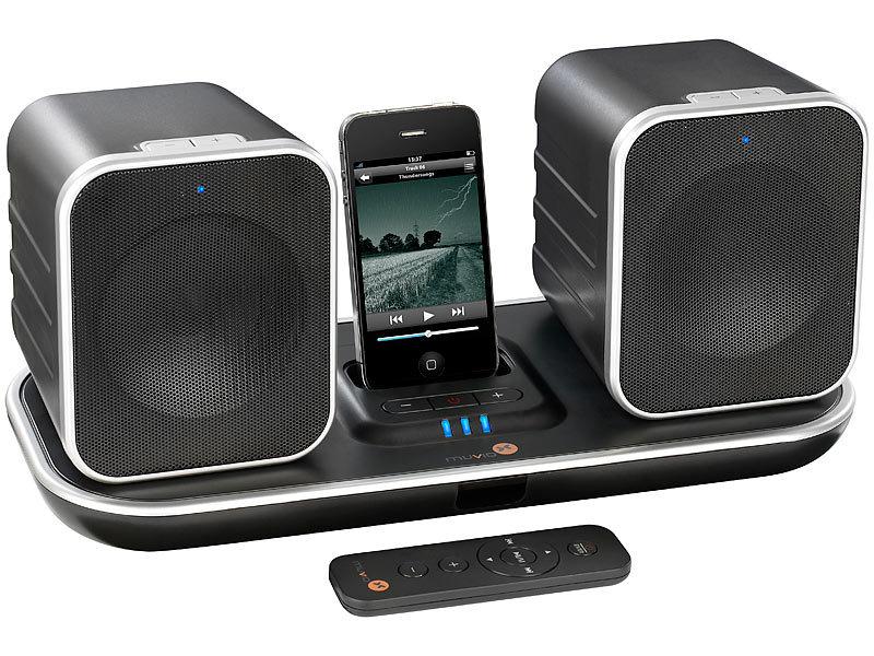 muvid docking lautsprecher funk lautsprecher m ipod. Black Bedroom Furniture Sets. Home Design Ideas