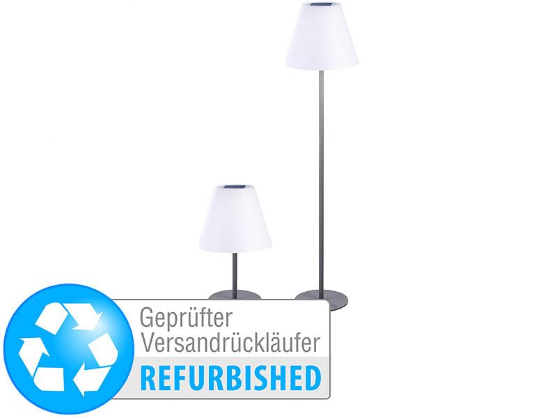 Lunartec Tisch-Leuchte: Solar-LED-Tisch- & Stehleuchte, 1,6 W, 50 lm ...