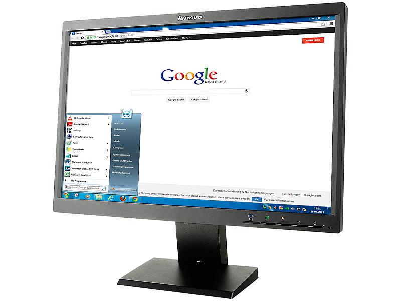 lenovo thinkvision l2250 55 8 cm 22 tft monitor 16 10 refurbished. Black Bedroom Furniture Sets. Home Design Ideas
