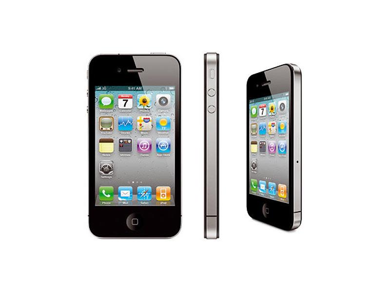 apple iphone 4s 16 gb schwarz ios 9 3 refurbished 2. Black Bedroom Furniture Sets. Home Design Ideas