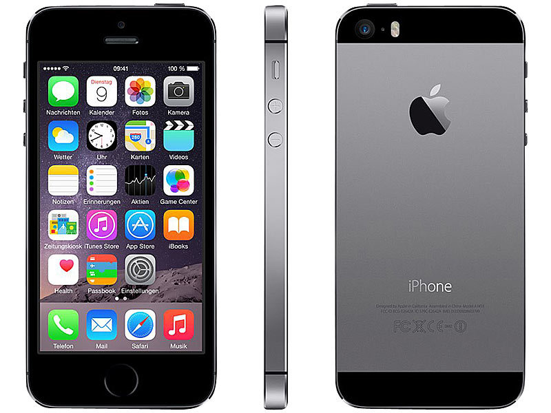 iphone 5s a1457 mit 16 gb spacegrau refurbished 1. Black Bedroom Furniture Sets. Home Design Ideas