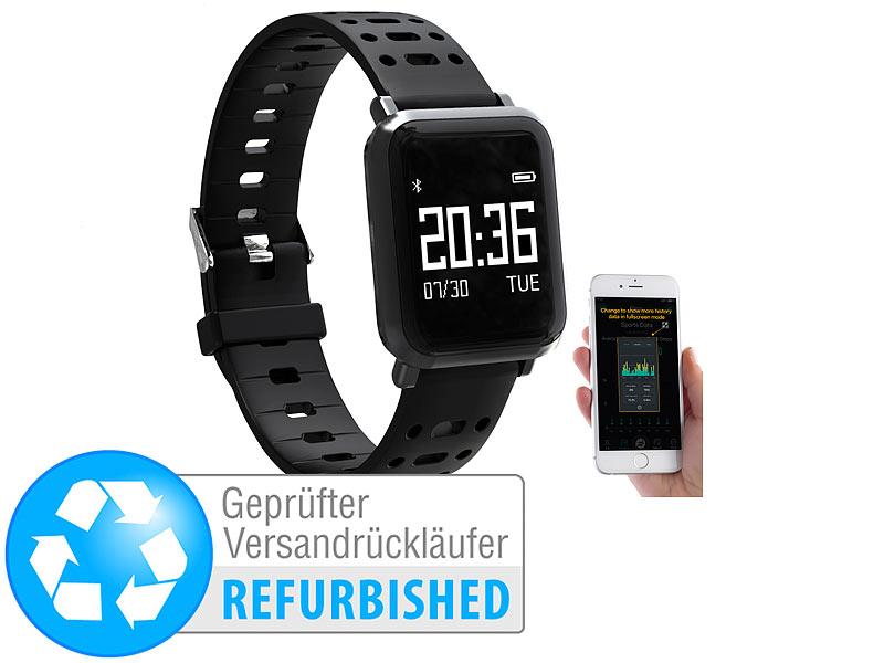 newgen medicals Fitness-Watch: Fitness-Uhr mit Blutdruck..