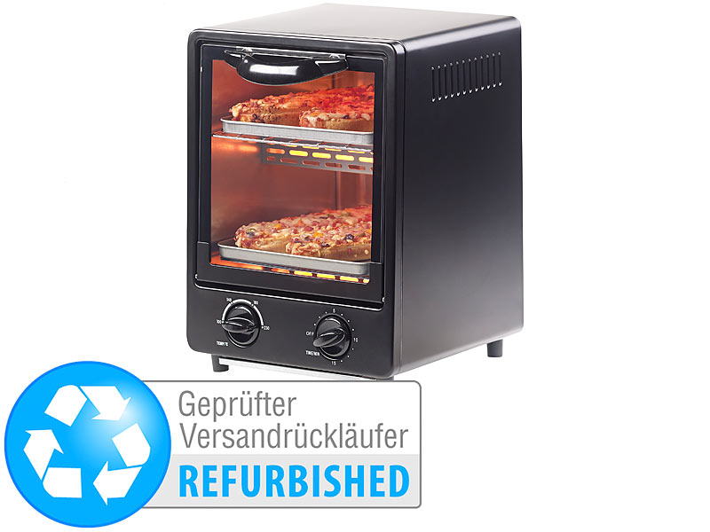 Rosenstein & Söhne Kleiner Backofen: Kompakter Mini-Backofen mit ...