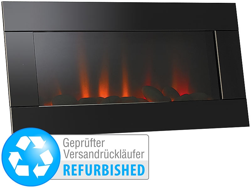 lunartec kamin bilder wandkamin mit t uschend echten trueflame leds versandr ckl ufer led. Black Bedroom Furniture Sets. Home Design Ideas