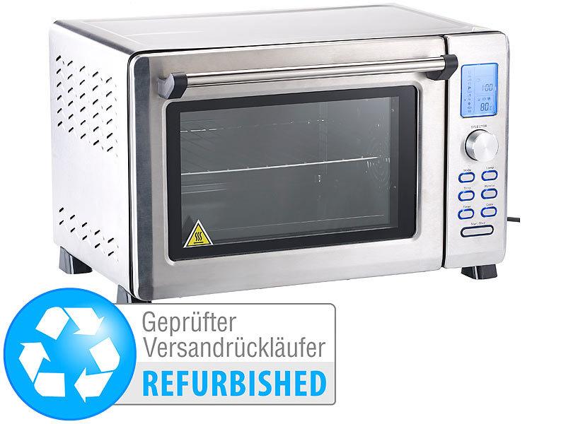 Kompakter 2in1-Edelstahl-Kombidämpfer und Umluft-Backofen 2.100 Watt