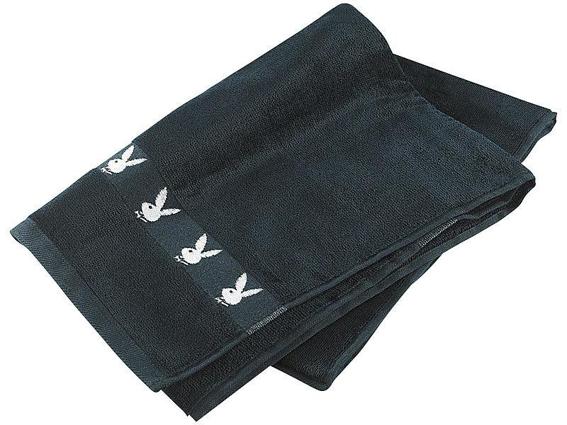 playboy handtuch schwarz wei 50 x 100 cm. Black Bedroom Furniture Sets. Home Design Ideas