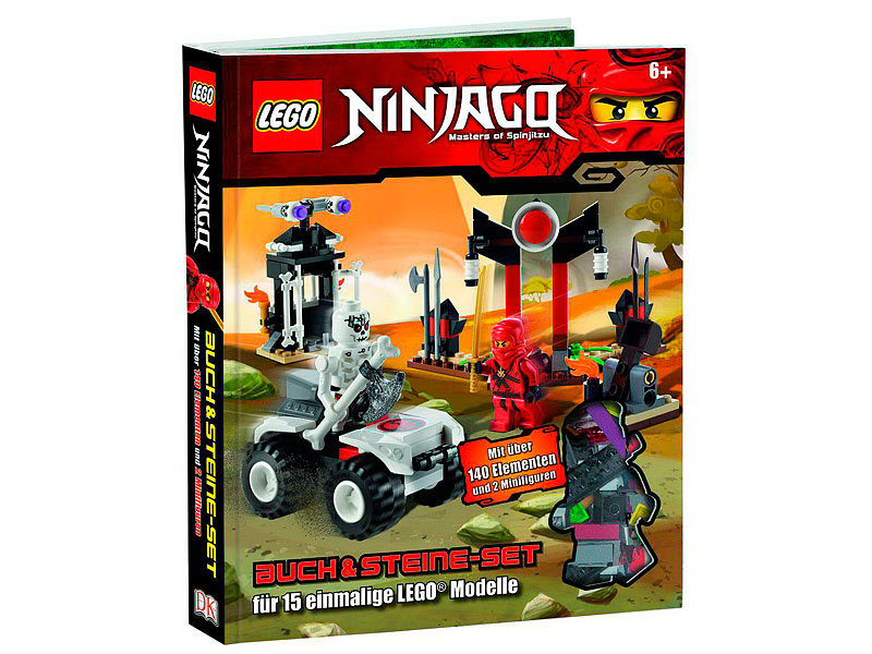 ninjago buch steine set 140 elemente und 2 figuren. Black Bedroom Furniture Sets. Home Design Ideas