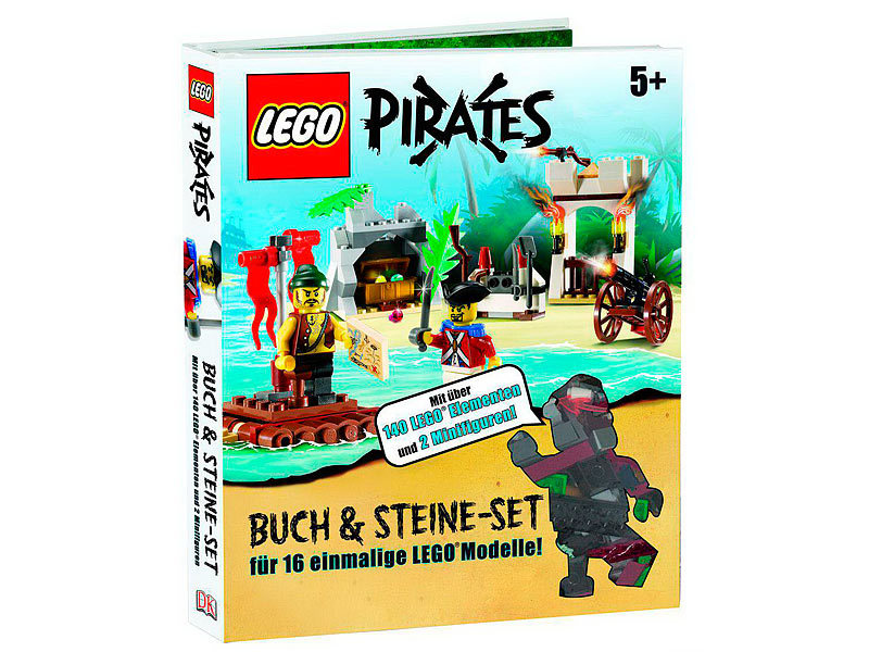 pirates buch steine set 140 elemente und 2 figuren. Black Bedroom Furniture Sets. Home Design Ideas