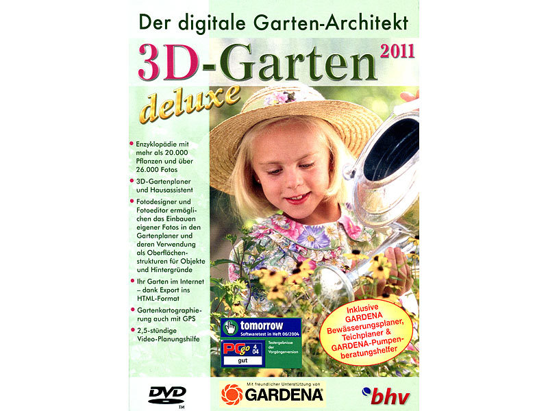 bhv 3d garten 2011 deluxe mit gardena bew sserungs und. Black Bedroom Furniture Sets. Home Design Ideas