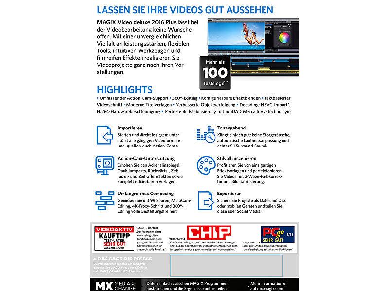 MAGIX Videoschnitt: Video deluxe 2016 Plus (Videobearbeitungsprogramm)