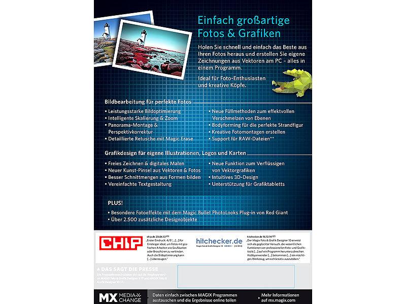 MAGIX Grafik Software: Foto & Grafik Designer 11 (Bild-Gestaltungs ...