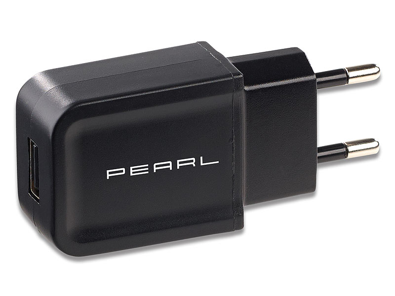 PEARL USB Steckernetzteil: Kompaktes USB-Netzteil (5 V) mit 2 A ...