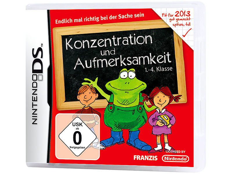 franzis konzentration und aufmerksamkeit 1 4 klasse 2013 f r nintendo ds. Black Bedroom Furniture Sets. Home Design Ideas