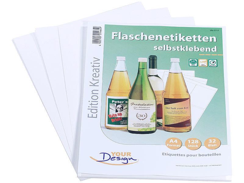 your design etiketten 128 inkjet flaschenetiketten 10x13. Black Bedroom Furniture Sets. Home Design Ideas