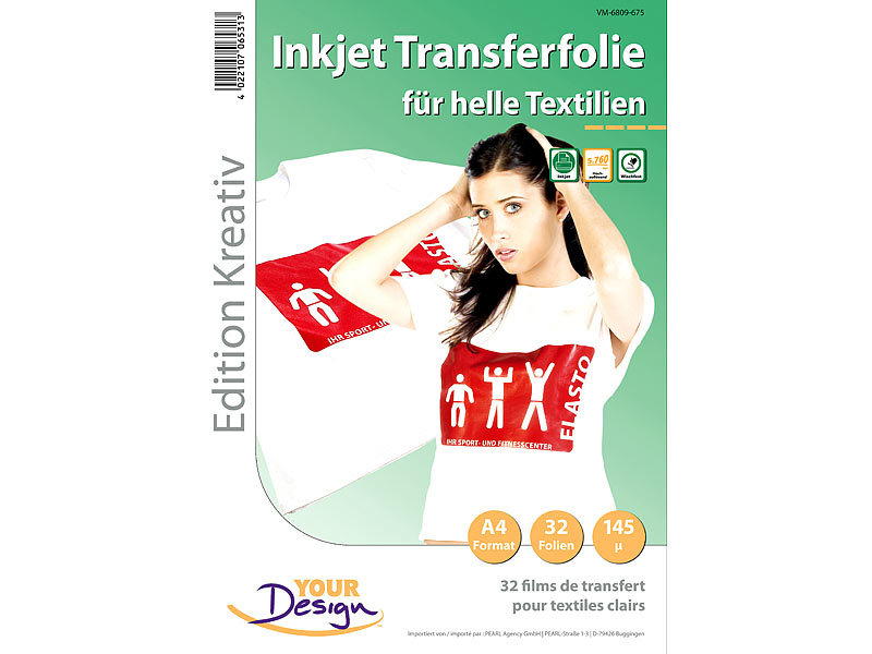 Your Design T Shirt Folien: 32 T Shirt Transferfolien für