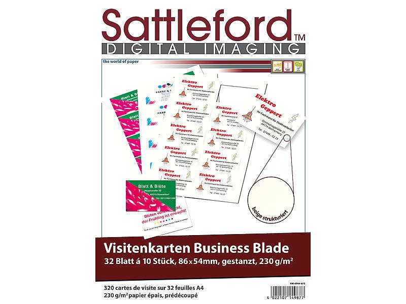 Sattleford Visitenkarten Beidseitig Bedruckbar 320