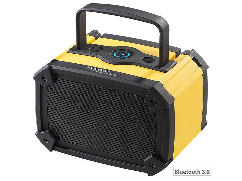 auvisio outdoor lautsprecher mss mit bluetooth 3 0 10 watt. Black Bedroom Furniture Sets. Home Design Ideas