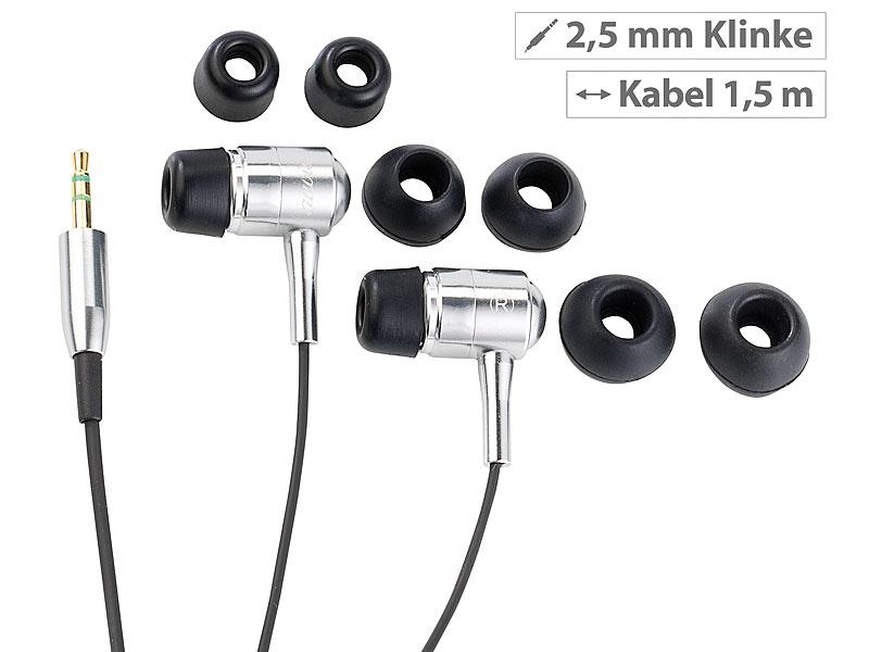 Premium-Stereo-Ohrhörer 'Bass Tube' 2,5 mm Klinke