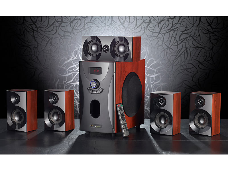 auvisio heimkinoanlage home theater surround sound system. Black Bedroom Furniture Sets. Home Design Ideas