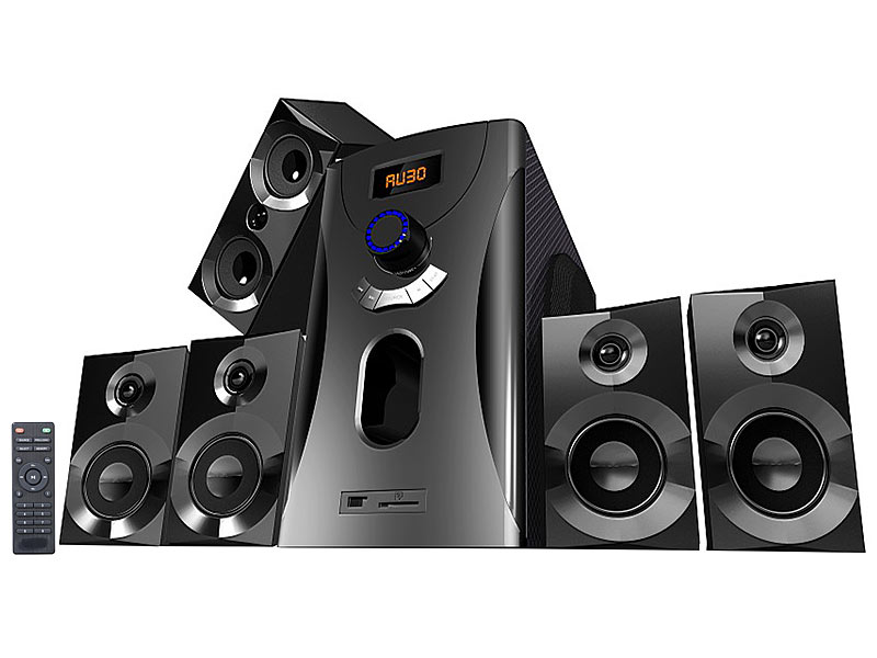 auvisio home theater surround sound system 5 1 160 watt. Black Bedroom Furniture Sets. Home Design Ideas