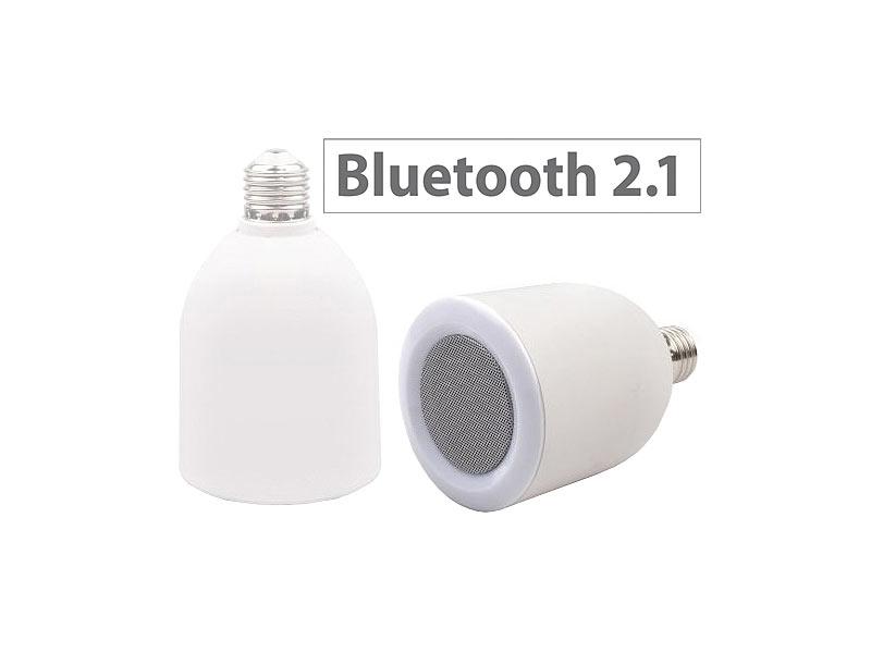auvisio lautsprecher led lampe e27 6 8 watt mit bluetooth speaker. Black Bedroom Furniture Sets. Home Design Ideas