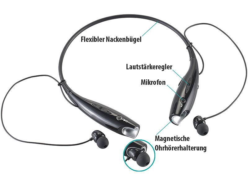 auvisio stereo headset sh mit bluetooth 4 0 aptx. Black Bedroom Furniture Sets. Home Design Ideas