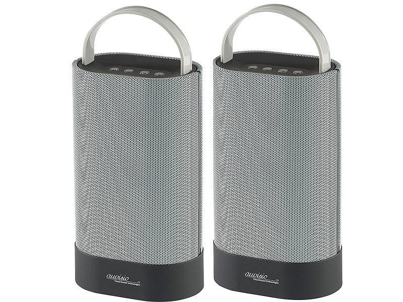 auvisio bluetooth stereo lautsprecher duo mss 30 watt. Black Bedroom Furniture Sets. Home Design Ideas
