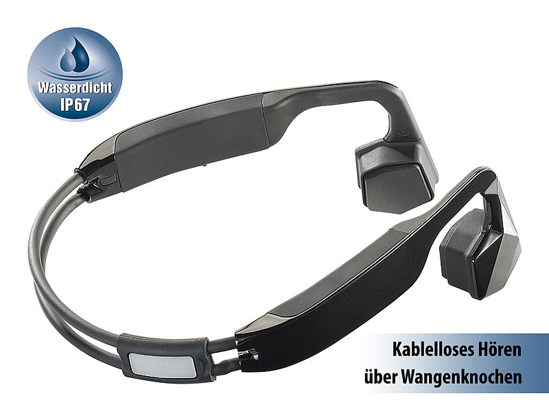 auvisio knochen kopfh rer wasserdichtes headset bc. Black Bedroom Furniture Sets. Home Design Ideas