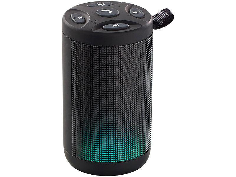 auvisio soundbox lautsprecher mp3 player mit bluetooth radio lichtimpulsen 6 watt led. Black Bedroom Furniture Sets. Home Design Ideas
