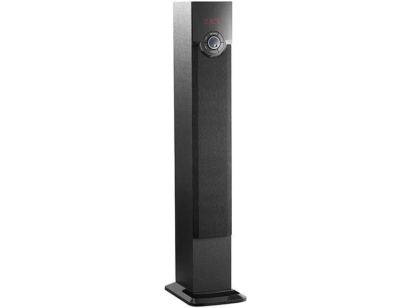 auvisio Turmlautsprecher: Turm-Lautsprecher mit Bluetooth, USB ...