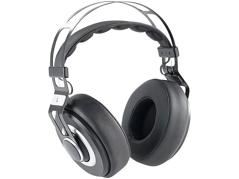 auvisio hifi kopfh rer over ear hifi headset ohs 420 mit. Black Bedroom Furniture Sets. Home Design Ideas