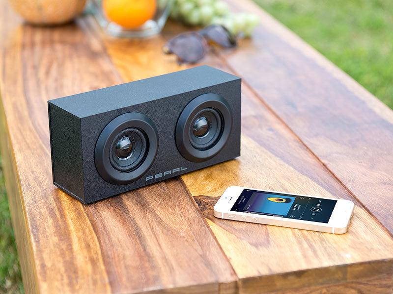 ... Auvisio Mobiler Aktivlautsprecher Im Holzgehäuse MSS 88.bt, Bluetooth,  6 Watt Auvisio