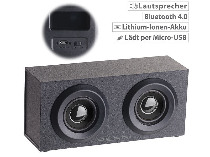 auvisio streaming lautsprecher mobiler aktivlautsprecher im holzgeh use mss bluetooth 6. Black Bedroom Furniture Sets. Home Design Ideas