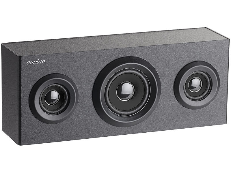 Auvisio Bluetooth Soundbar Box 2 1 Holz Regal Lautsprecher