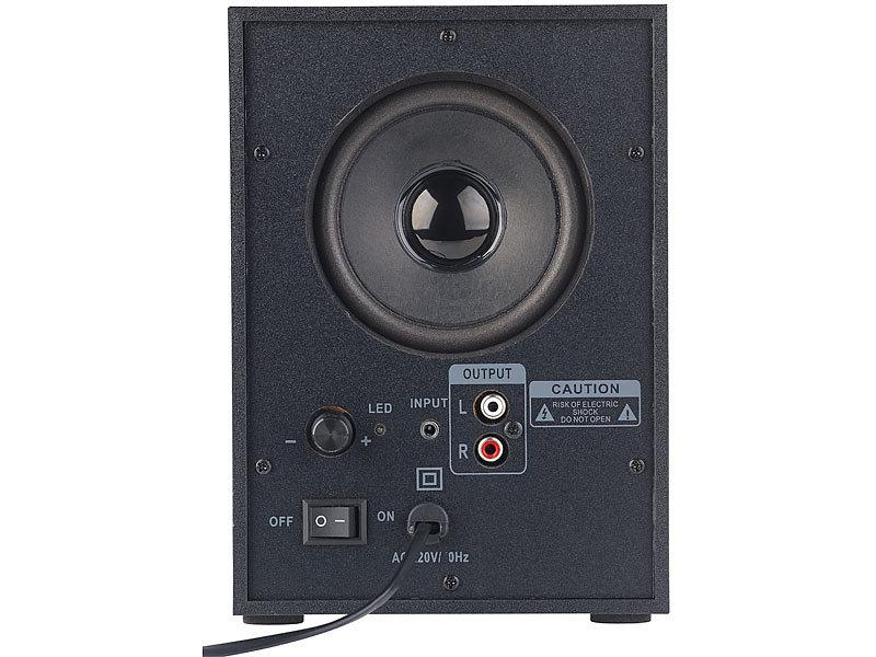 auvisio PC Soundsystem: Klangstarkes Lautsprecher-System mit ...