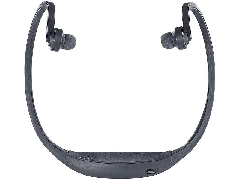 auvisio kabelloses sport headset mit bluetooth 4 1 und akku. Black Bedroom Furniture Sets. Home Design Ideas