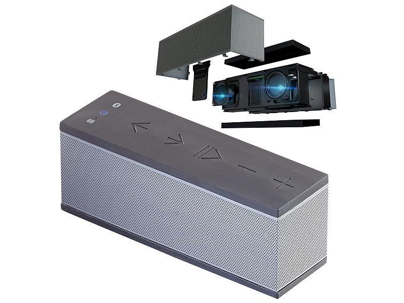 auvisio stereo lautsprecher mit freisprecher bluetooth microsd 16w ipx4. Black Bedroom Furniture Sets. Home Design Ideas