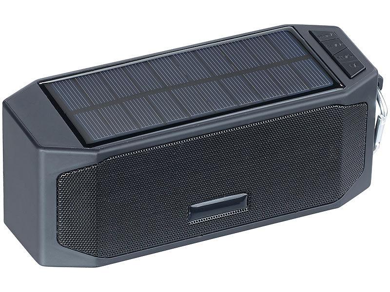 auvisio outdoor lautsprecher solar lautsprecher mit bluetooth 3 0 freisprecher powerbank 12. Black Bedroom Furniture Sets. Home Design Ideas