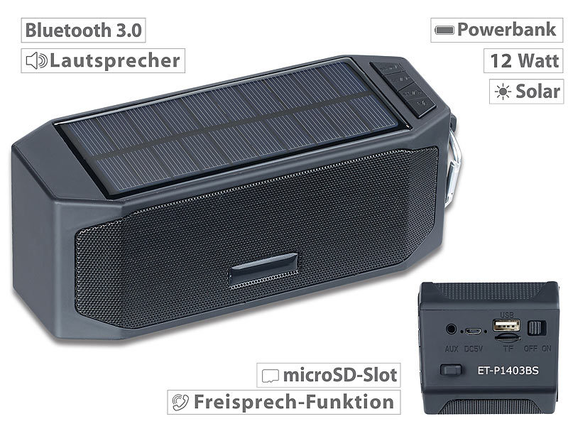 auvisio outdoor lautsprecher solar lautsprecher mit. Black Bedroom Furniture Sets. Home Design Ideas