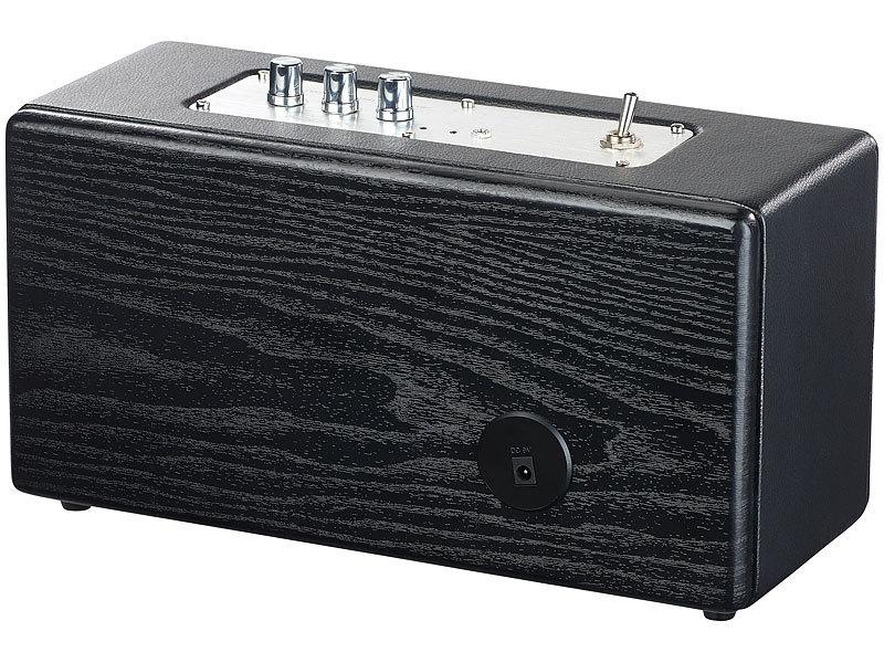 Auvisio Strand-Lautsprecher: Mobiler Retro-Lautsprecher