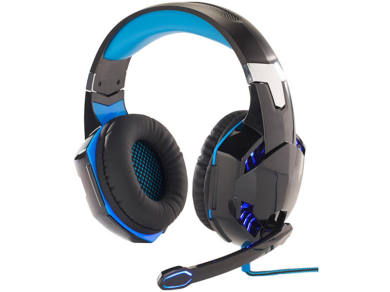 Micro-casque lumineux USB spécial Gaming GHS-400.LED - son Surround...